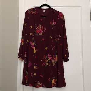 Old Navy Long Sleeved Flowy Mini Dress Floral XS
